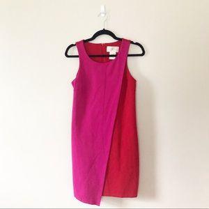 Julie Brown Asymmetrical  Red Pink Dress